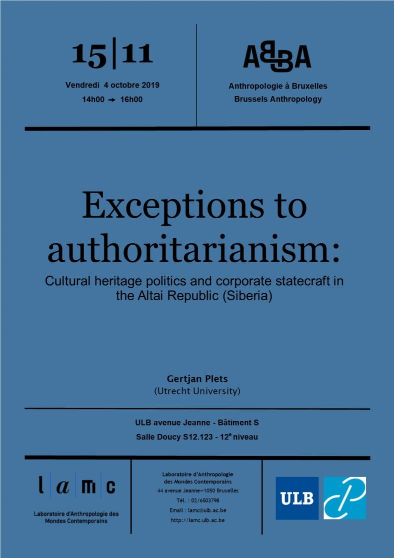 Exceptions to authoritarianism: Cultural heritage politics and corporate statecraft in the Altai Republic (Siberia)